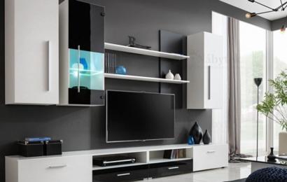 Nábytek do obývacího pokoje v dřevěném designu